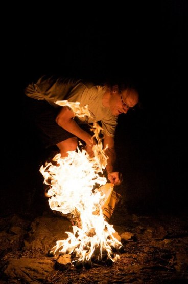 Ed on fire